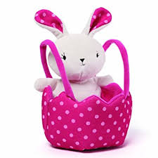 easter bunny baskets gund easter bunny and basket plush toys