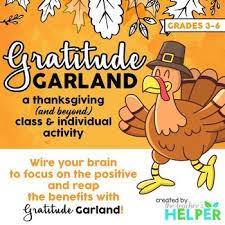 thanksgiving gratitude garland by the s helper tpt