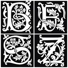26pcs airbrush tattoo stencils lettering for body painting glitter