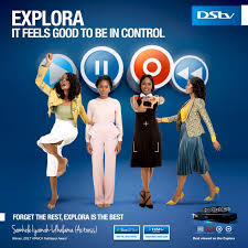 somkele in a new dstv explora commercial p m express