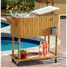 Patio Table Beer Cooler Outdoor Ice Chest Beverage Cooler Ideas For Your Patio Or Deck