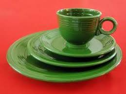 vintage forest green dinnerware from homer laughlin