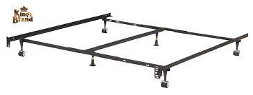 Metal Bed Frame Double Amazon Com Heavy Duty 6 Leg Adjustable Universal Twin Full