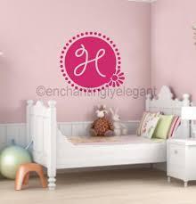 wall decals stickers home decor home furniture diy custom monogram letter flower vinyl decal wall sticker teen girl room decor