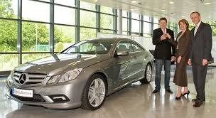 mercedes palladium silver mercedes e class coupe delivered to customer in germany