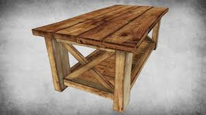 Wooden Table 3d Model Rustic Wood Table 02 Cgtrader