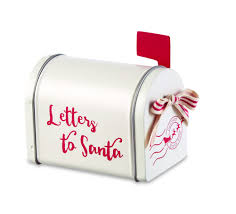 letters to santa mini mailbox by mud pie