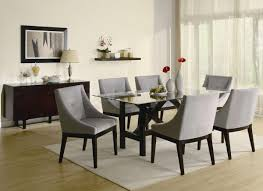 Dark Dining Room Table by Dark Grey Dining Chairs High Back Upholstered Dining Room Chairs