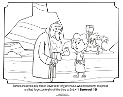 coloring pages david fights goliath becomes king in bible pages