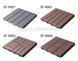 cheap outdoor interlocking wood plastic composite decking tiles