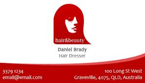 free hair salon business card template