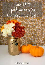 Jar Thanksgiving Easy Diy Gold Thanksgiving Jar Craft Illistyle