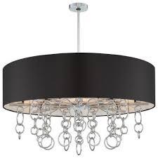 black drum l shade ringlets 12 lt pendant 12 light pendant with chrome finish and