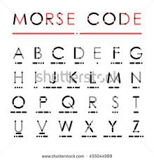 latin alphabet international morse code visual stock vector