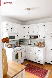 how to paint wood kitchen cabinets painting kitchen cabinets budget remodel before after