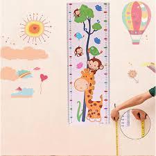 nursery decor baby child kids cartoon animal growth height measure nursery room wall sticker decal