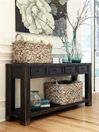 How To Decorate Sofa Table Sofa Table For The Entry Way Or Behind The Couch Thefurnituremart
