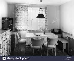 habitation dining room sitting area with radio set 1950s 50s