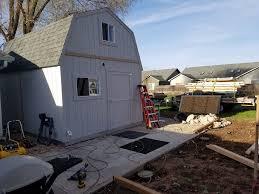 Awning Shed Storage Turned Studio Tuff Shed