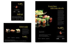 menu publisher template sushi restaurant flyer ad template word publisher