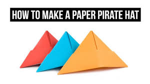 how to make a paper pirate hat easy youtube