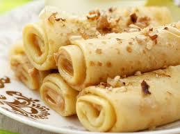 Esszimmer Silvesteressen Pfannkuchenröllchen Mit Apfel Erdnussbutter Und Nüssen Rezept
