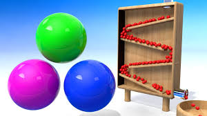 colors for kids to learn with a lot of 3d color balls rolling in a