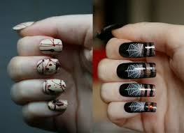 50 simple easy spooky u0026 scary halloween nail art designs ideas