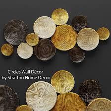 circles wall decor 3d cgtrader