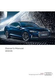 2018 audi a5 coupe s5 coupe u2014 owner u0027s manual u2013 409 pages u2013 pdf