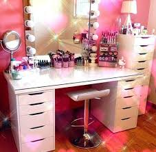Pink Vanity Table Awesome Makeup Vanity Table With Lights Design That Will Make You