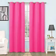 Eclipse Samara Blackout Curtains Sheer Thermal Blackout Grommet Curtains In Pink Integralbook Com