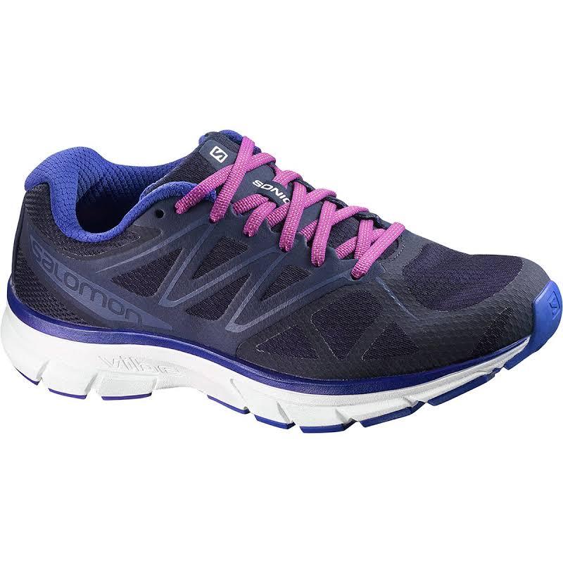 Salomon Sonic Trail Running Shoes Evening Blue/White/Blue 7.5 L39355800-7.5