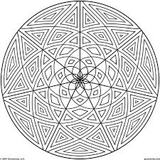 coloring pages geometric design