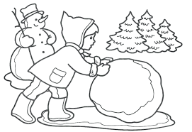 winter sports coloring pages free printable snowy houses for pre k