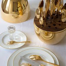 buy christofle mood flatware egg set of 24 24 carat gold amara