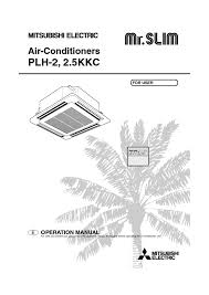 mitsubishi electric mr slim air conditioner users guides