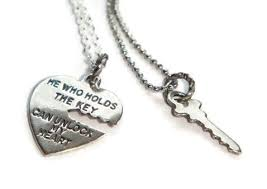 key to my heart gifts he who holds the key necklaces key to my heart his hers