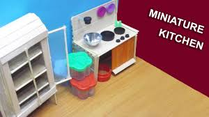 Dollhouse Kitchen Furniture Diy Miniature Kitchen Dollhouse Furniture Popsicle Stick Crafts