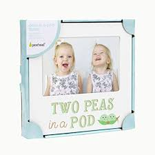 two peas in a pod picture frame pearhead two peas in a pod siblings sentiment frame