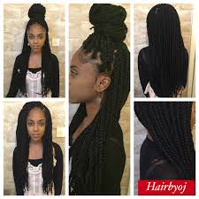 medium box braids with human hair waist length medium big sized box braids hairbyoj