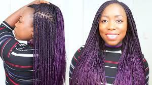 grey and purple combined together style box breads box braids purple hair at home on natural hair small box braids with