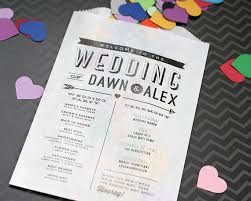 where to get wedding programs printed modern wedding program confetti or flower toss bag printed
