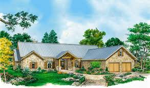 hill country house plan with huge porch 46067hc architectural