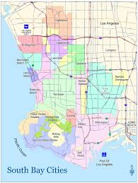 Los Angeles Area Map by South Bay Association Of Realtors About The South Bay