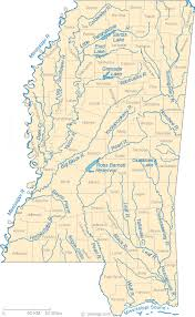 Mississippi lakes images Map of mississippi lakes streams and rivers gif