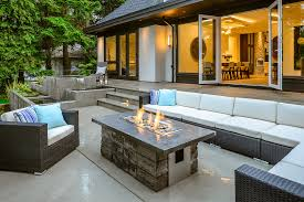 Modern Firepit Modern Patio Design With Firepit And Water Feature Also Black L
