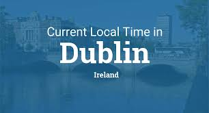 Utc Time Zone Map Current Local Time In Dublin Ireland