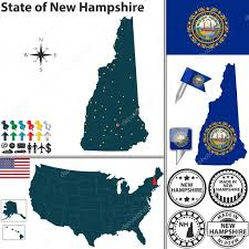 Map Of State by Map Of State New Hampshire Usa U2014 Stock Vector Sateda 45424477