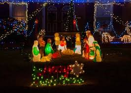 Nativity Sets Outdoor Plastic Lighted The Best Lighted Blow Mold Christmas Decorations